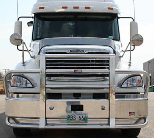 Semi Deer Guards : Freightliner columbia bumper heavy duty semi truck