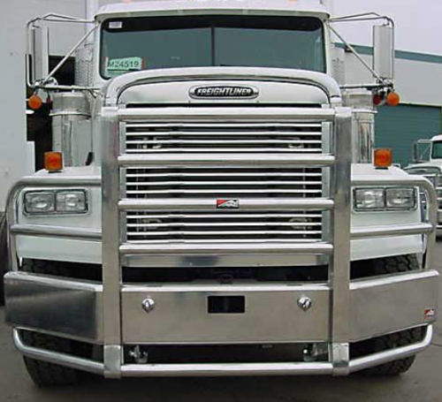 Chrome Bumpers For Fld 120 : Freightliner fld bumper sba severe duty heavy