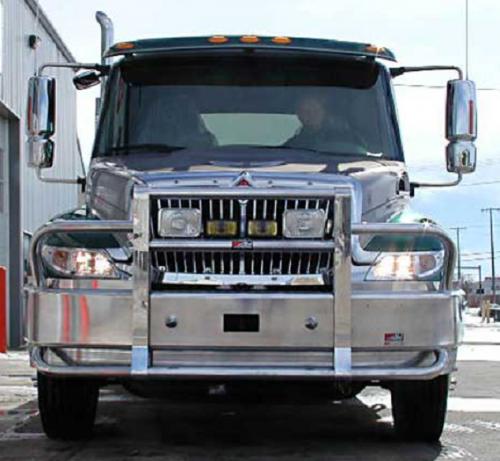 Semi Deer Guards : International bumper heavy duty semi truck