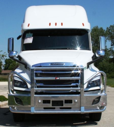 FREIGHTLINER CASCADIA Bumper  Heavy Duty Semi Truck Bumper from ALI ARC  2  Post Moose Protection Semi Truck Bumper