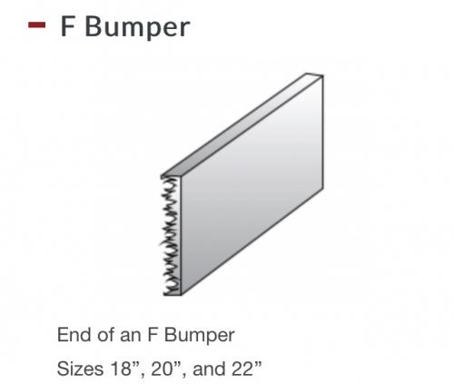 """Semi Truck Chrome Bumper 20"""" Flamed Box Ends"""