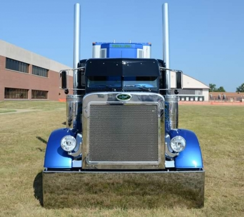 Peterbilt 379 359 6 Flat Top Exhaust Lincoln Chrome