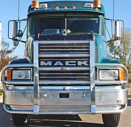 Semi Deer Guards : Mack ch bumper set back axle heavy duty semi truck