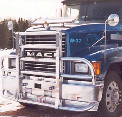 Semi Deer Guards : Mack ch bumper set forward axle heavy duty semi truck