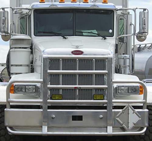 Peterbilt Grille Guard : Peterbilt bumper set back axle heavy duty semi truck