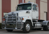 WESTERN STAR 4700 SFA Bumper. 2013 and Up.  Set Forward Axle Heavy Duty Semi Truck Bumper from ALI ARC. 2 Post Deer Protection Semi Truck Bumper.