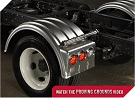 MINIMIZER Fenders.  MINIMIZER 1900 Single Axle Poly Fenders.  Heavy Duty Semi Truck Fenders. In Stock and Ready To Ship FAST.