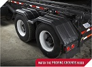 MINIMIZER Fenders.  The Original Fenders.  MINIMIZER 200 Tandem Axle Poly Fenders. Heavy Duty Semi Truck Fenders. In Stock and Ready To Ship FAST.