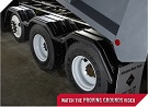 MINIMIZER Fenders.  The Rolling Triples Fenders.  MINIMIZER 318 Tri Axle Poly Fenders. Heavy Duty Semi Truck Fenders. In Stock and Ready To Ship FAST.