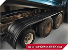 MINIMIZER Fenders.  Long and StreamLined Fenders.  MINIMIZER 910 Tri Axle Poly Fenders. Heavy Duty Semi Truck Fenders. In Stock and Ready To Ship FAST.