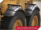 MINIMIZER Fenders.  Armadillo Construction Fenders.  MINIMIZER 1100 Construction Fenders.  Heavy Duty Semi Truck Fenders. In Stock and Ready To Ship FAST.