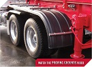 MINIMIZER Fenders.  Tanker Fenders.  MINIMIZER TF900/1554 Tanker Poly Fenders.  MINIMIZER 1354 Tandem Axle Fenders. Heavy Duty Semi Truck Fenders. In Stock and Ready To Ship FAST.