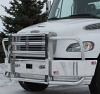 FREIGHTLINER M2 106 Bumper. Non Raised Cab Heavy Duty Semi Truck Bumper from ALI ARC.  2 Post Deer Protection Semi Truck Bumper.