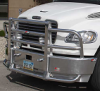 FREIGHTLINER M2 Bumper. Raised Roof Heavy Duty Semi Truck Bumper from ALI ARC.  2 Post Deer Protection Semi Truck Bumper.