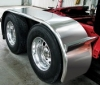 "#1 Sale. Trux 142"" Stainless Steel ""The Boss"" Long Drop Full Fender w/ Rolled Edge"