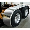 "Sale on Semi Truck Fenders. Quality Trux F33 Boss Smooth Stainless Full Fenders. 14 Guage Strong.  44"" x 54"" x 44""  ( Price is per pair ) Big Rig Fenders In stock and ready to ship."