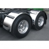 "Sale on Semi Truck Fenders. Quality Trux S12 Smooth Stainless Single Axle Fenders. 14 Guage Strong.  80""  Fits tires with an outer diameter of 46 1/2"" or 43 1/2""  ( Price is per pair ) Big Rig Fenders In stock and ready to ship."
