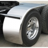 "Sale on Semi Truck Fenders. Quality Trux H10 Smooth Stainless Half Fenders. 16 Guage Strong.  80"" 31"" - 49"" CSM Rollin ( Price is per pair ) Big Rig Fenders In stock and ready to ship."