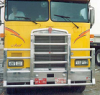 KENWORTH K100 Bumper. EVOLUTION Heavy Duty Semi Truck Bumper from ALI ARC. 4 Post Moose Protection Semi Truck Bumper.