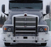 KENWORTH T2000 Bumper. Years 2005 and Up.  Heavy Duty Semi Truck Bumper from ALI ARC. 2 Post Deer Protection Semi Truck Bumper.