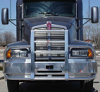 KENWORTH T600 Bumper. Heavy Duty Semi Truck Bumper from ALI ARC. 2 Post Deer Protection Semi Truck Bumper.