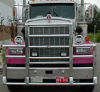 KENWORTH W900B Bumper. Heavy Duty Semi Truck Bumper from ALI ARC. 4 Post Moose Protection Semi Truck Bumper.