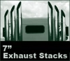 "7"" Peterbilt 379 Semi Truck Monster Stack Exhaust Package.  Free Shipping."